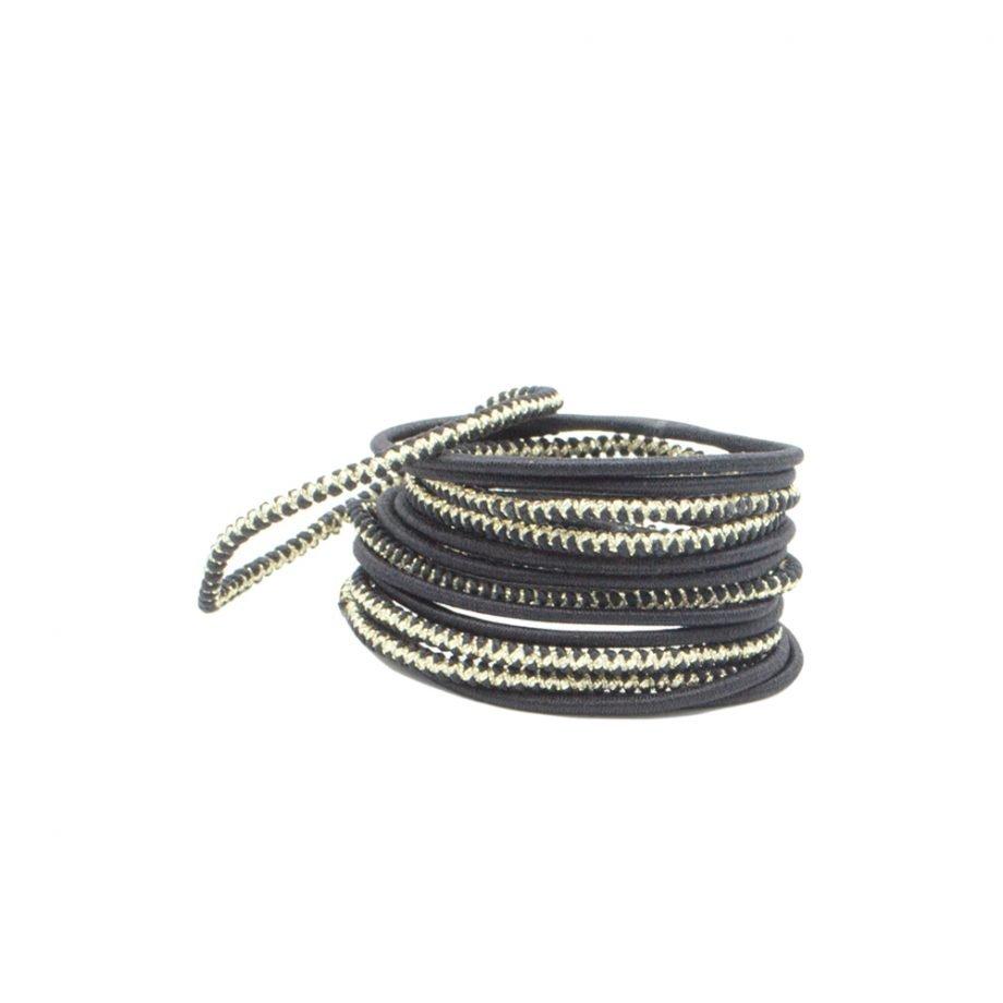 Bachca Thin Elastics Black hiuslenkit
