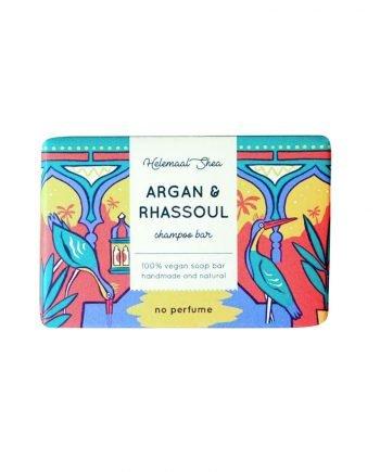 HelemaalShea Argan & Rhassoul Shampoo Bar - kiinteä hajusteeton palashampoo