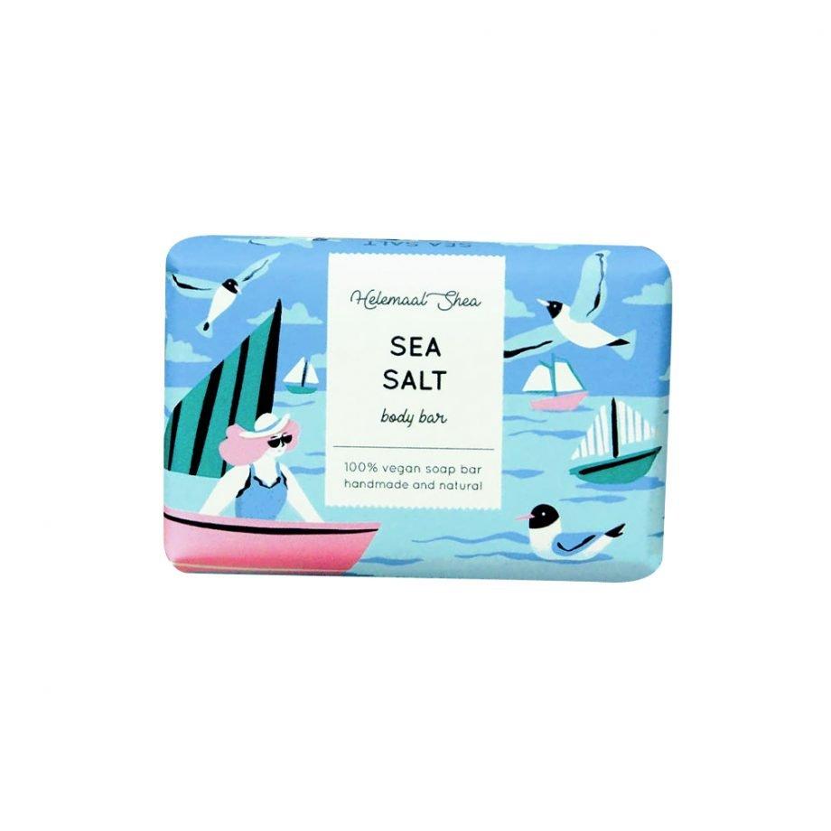 HelemaalShea Sea Salt Body Bar - merisuola palasaippua