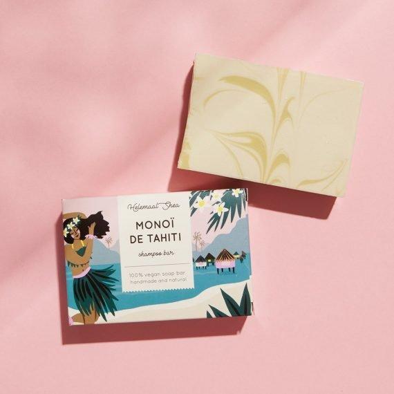 HelemaalShea Monoï de Tahiti Shampoo Bar palashampoo