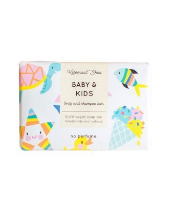 HelemaalShea Baby & Kids Body and Shampoo Bar hajusteeton palasaippua lapsille