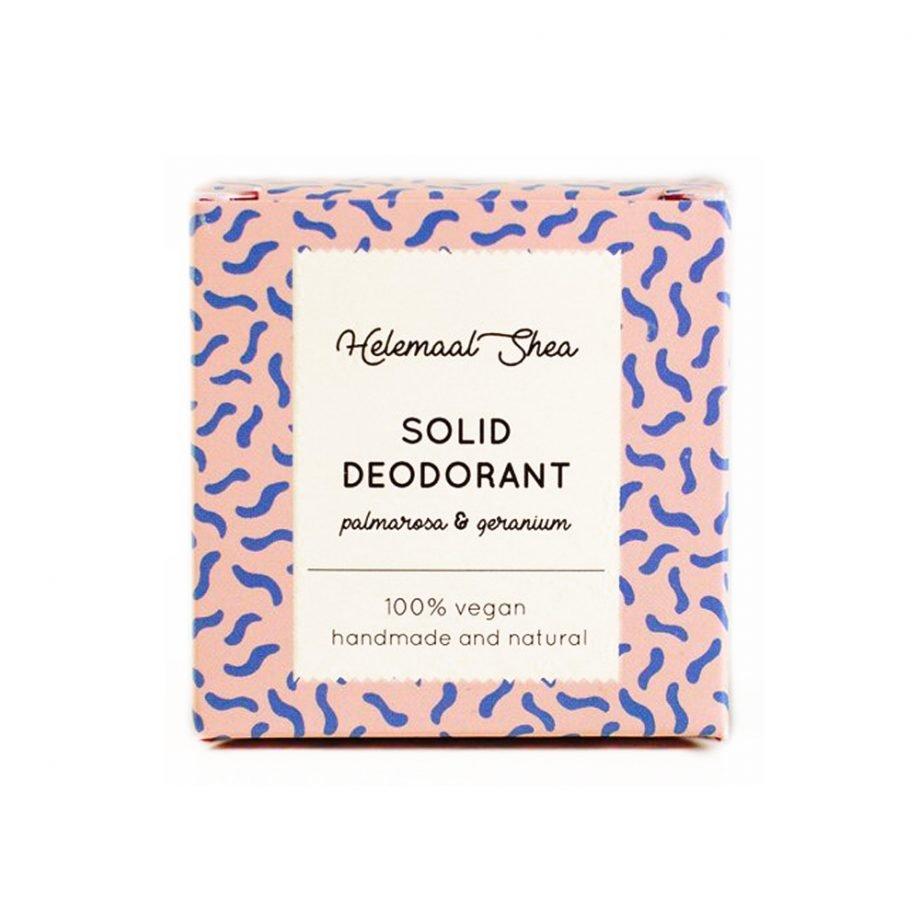 HelemaalShea Solid Deodorant Palmarosa & Geranium kiinteä deodorantti