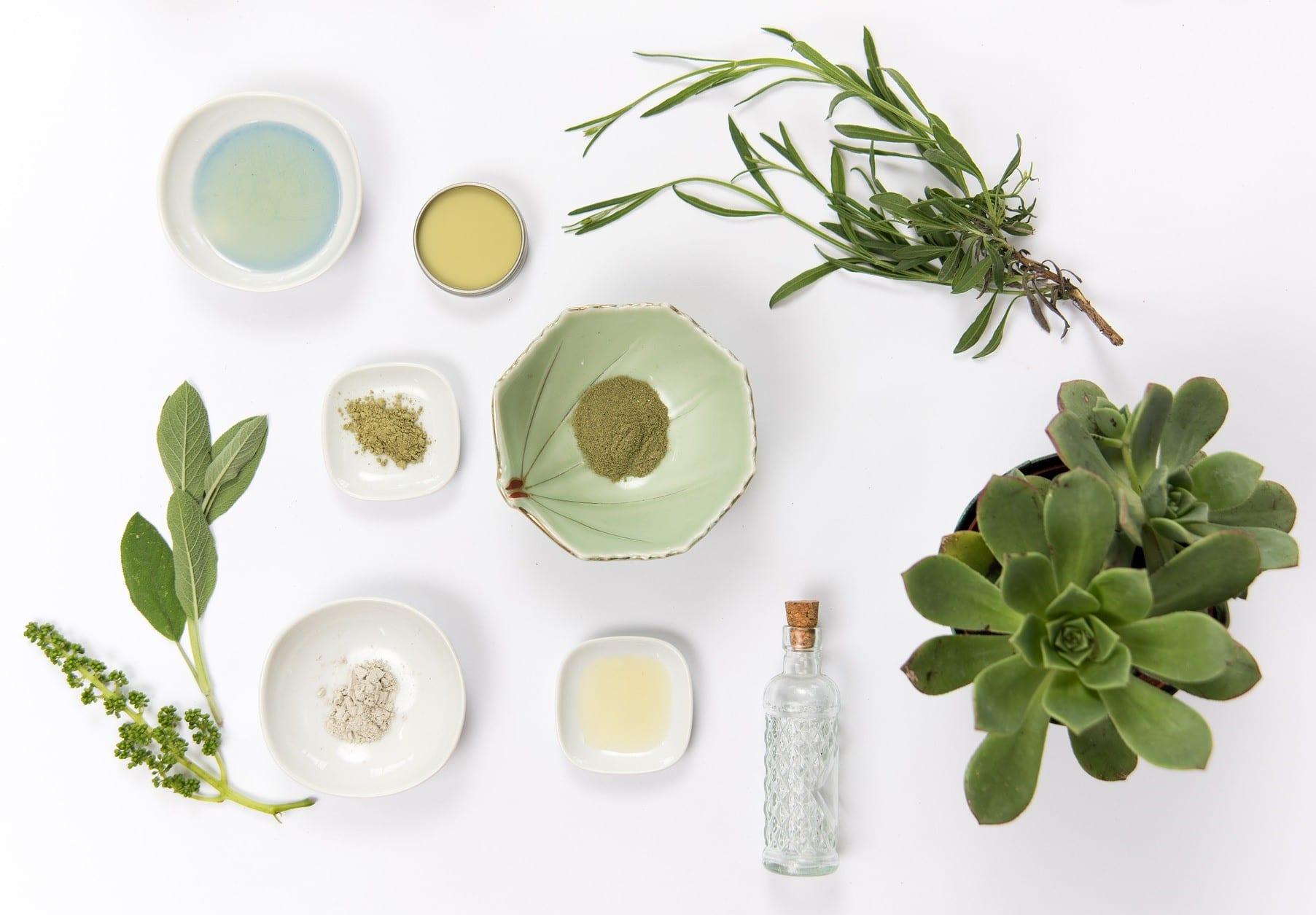 Luonnonkosmetiikan raaka-aineet voidaan uuttaa tai puristaa kasveista