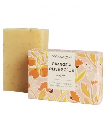 HelemaalShea Orange & Olive Body Bar Scrub kuorintasaippua