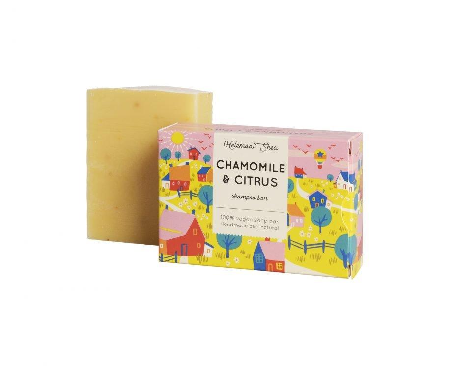 HelemaalShea Chamomile & Citrus kamomilla ja sitrus palashampoo