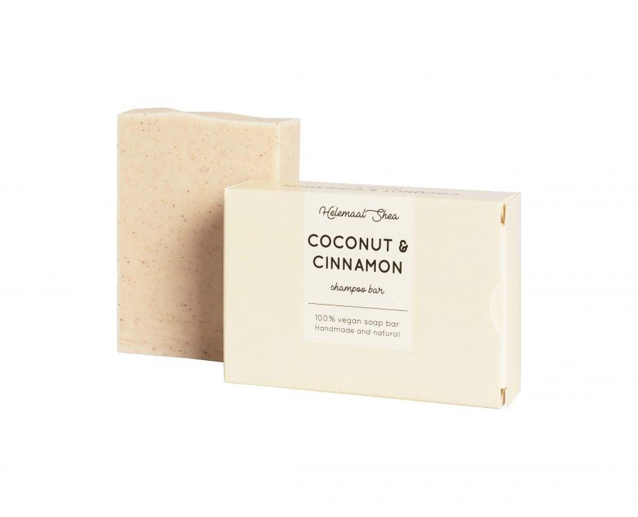 HelemaalShea Coconut & Cinnamon kookos ja kaneli palashampoo kärsineille hiuksille