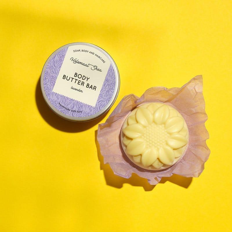 HelemaalShea kiinteä vartalovoide Body Butter vartalokakku