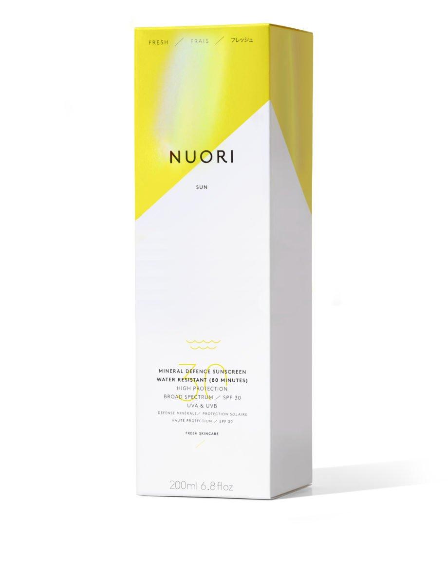 Nuori Mineral Defence water resistant Face & Body aurinkovoide aurinkorasva beautiikki vedenkestävä luonnonkosmetiikka